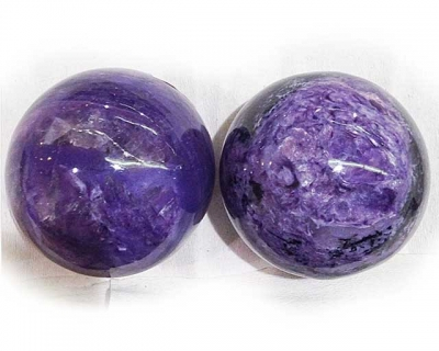 Charoite spheres A grade